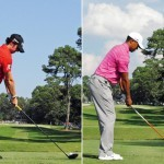 Swing sequence Rory vs Tiger 1