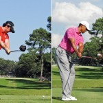 Swing sequence Rory vs Tiger 2
