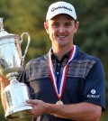 -c- Getty Justin Rose Trphy US Open