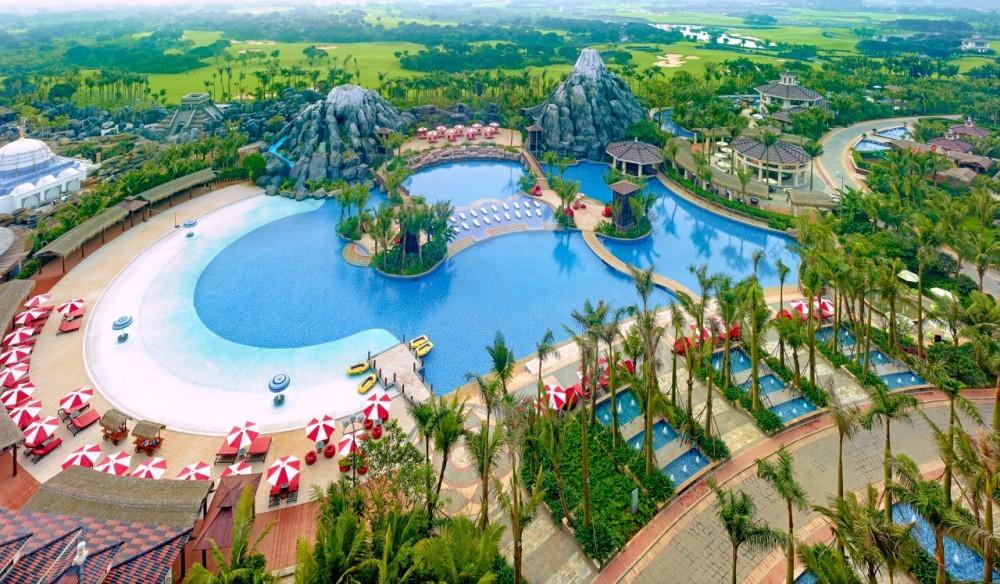 le parc aquatique à Hainan