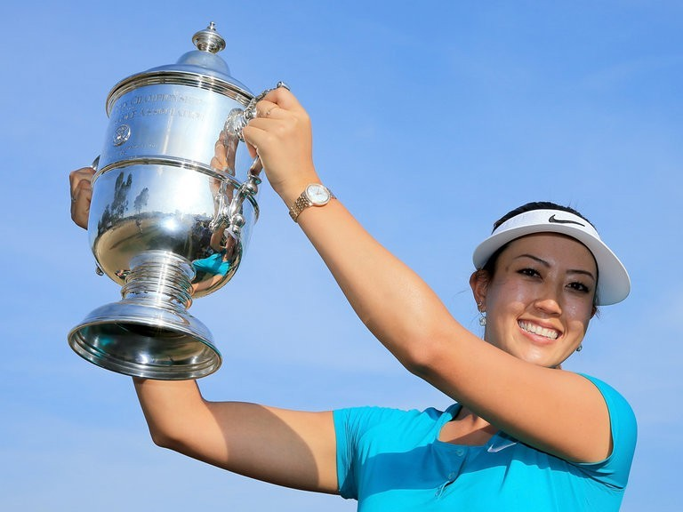 -c- getty Michelle Wie Trophy