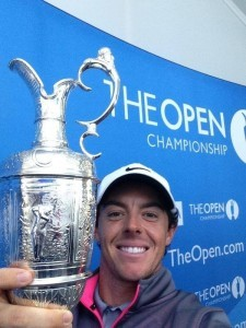 Selfie Rory et claret jug