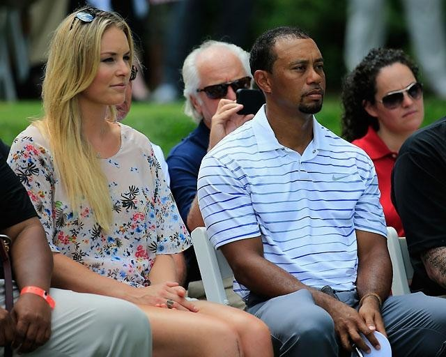 -c- getty Lindsey Vonn TIger Woods