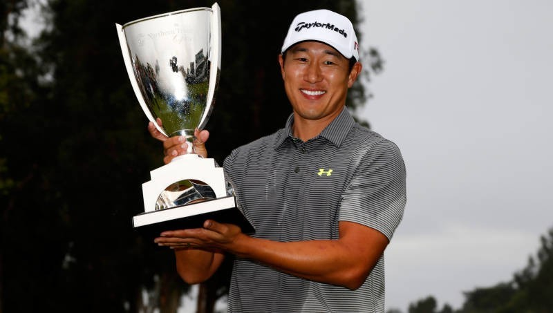 -c- getty James Hahn Northern Trust Open trophy