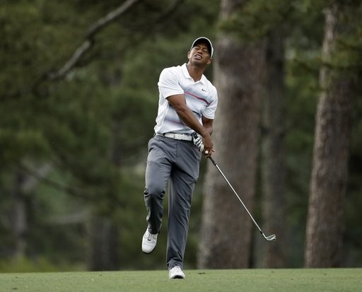 -c- AP Tiger Woods 1st round Masters
