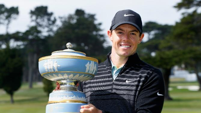 -c- getty Rory McILroy Match Play trophy