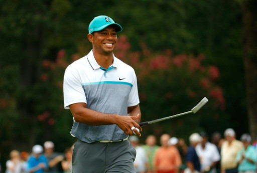 -AFP Tiger Woods smile