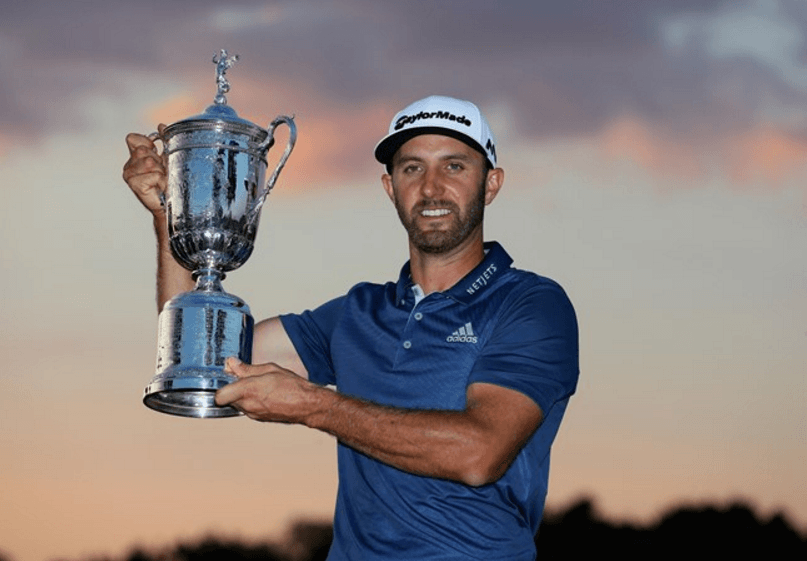 dustin johnson us open 2016
