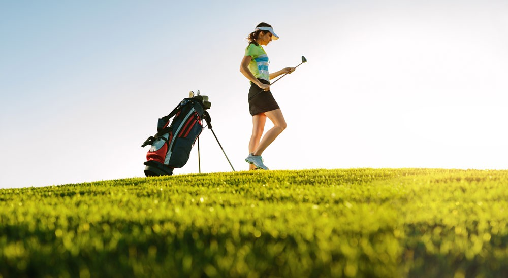 Joueuse de golf