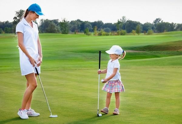 golf mère et fille