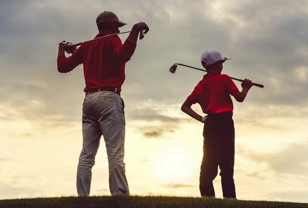 golf père et fils