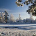 Parcours de golf en hiver