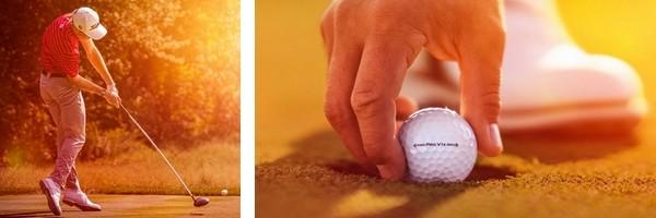 golfeur balle Titleist Pro V1