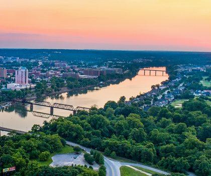 panorama sur la ville d'Augusta